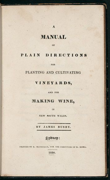 James Busby's viticulture and wine manual