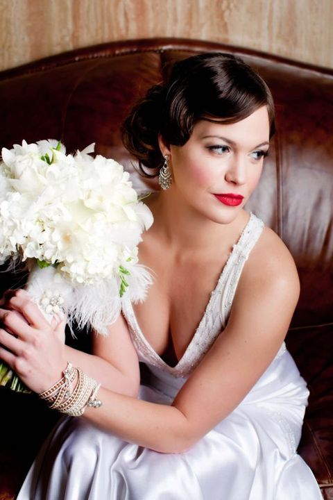 25 Chic Art Deco Wedding Hair Ideas | HappyWedd.com                                                                                                                                                                                 More