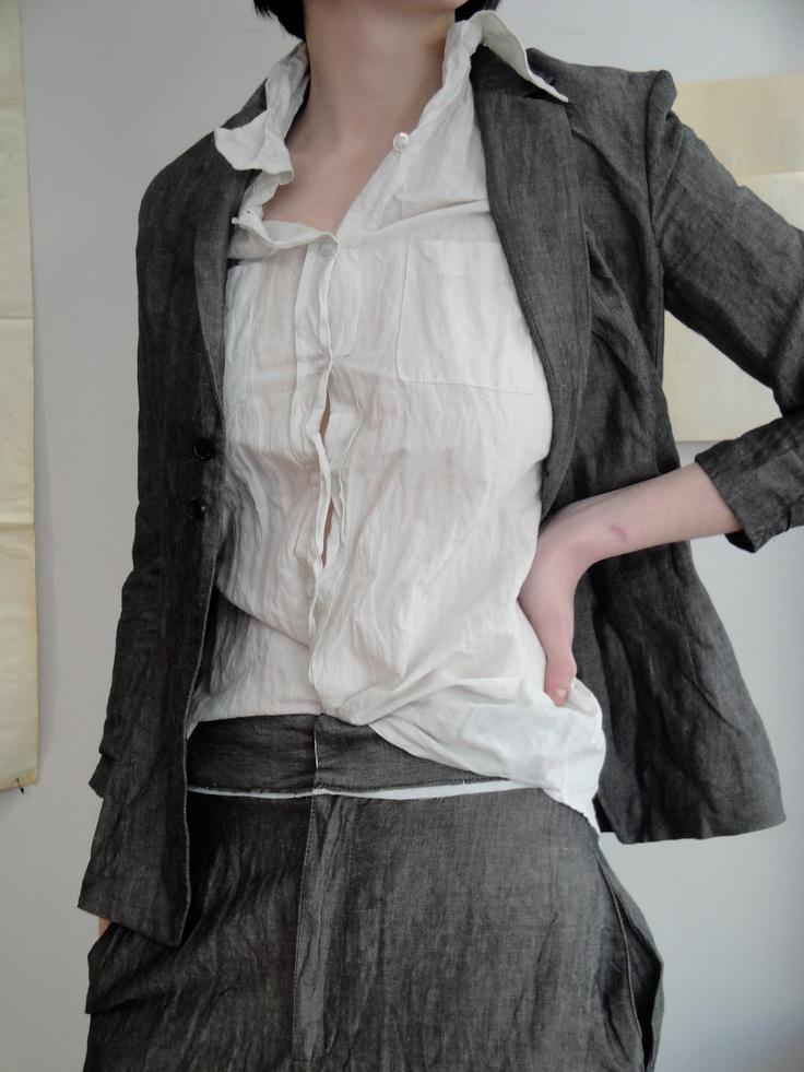 //Fashion Wrinkle, Grey