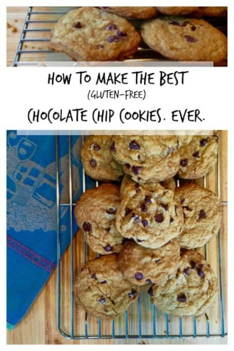 How to make the best gluten free chocolate chip cookie recipe ever.  Gooey, fragrant, meltingly-yummy dessert perfection! | Tasting Everything