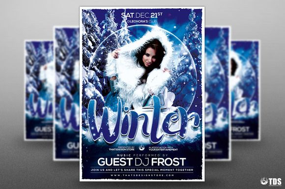 Winter Solstice Flyer Template by Thats Design Store on @creativemarket