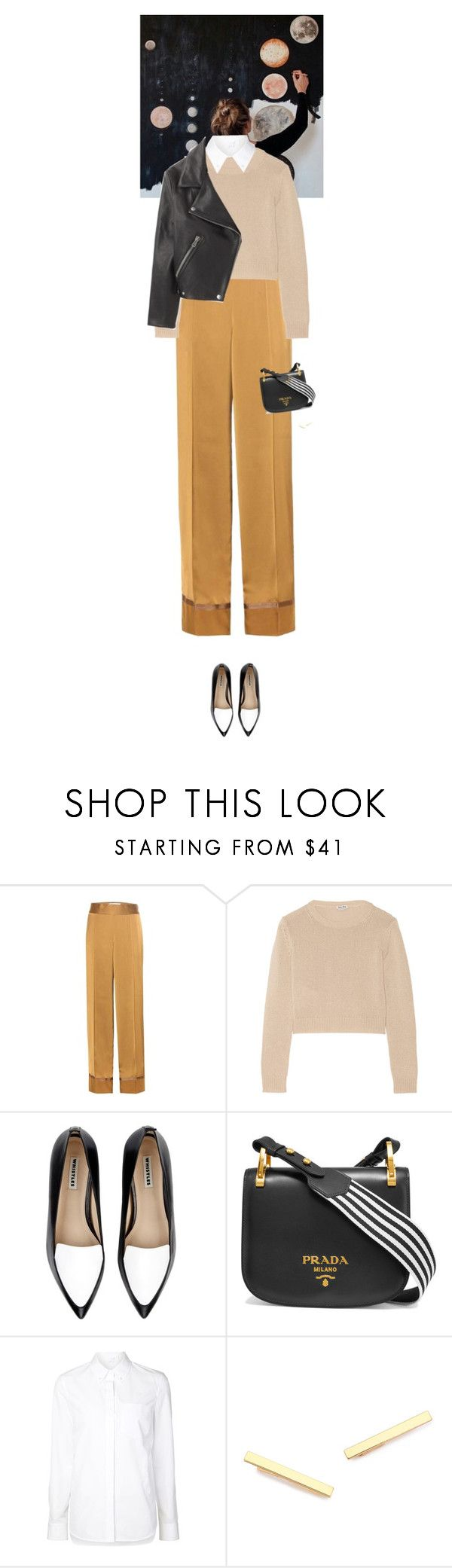 """""""Outfit of the Day"""" by wizmurphy on Polyvore featuring Maison Margiela, Miu Miu, Whistles, Prada, Alexander Wang, Gorjana, Acne Studios, ootd and pajamaparty"""