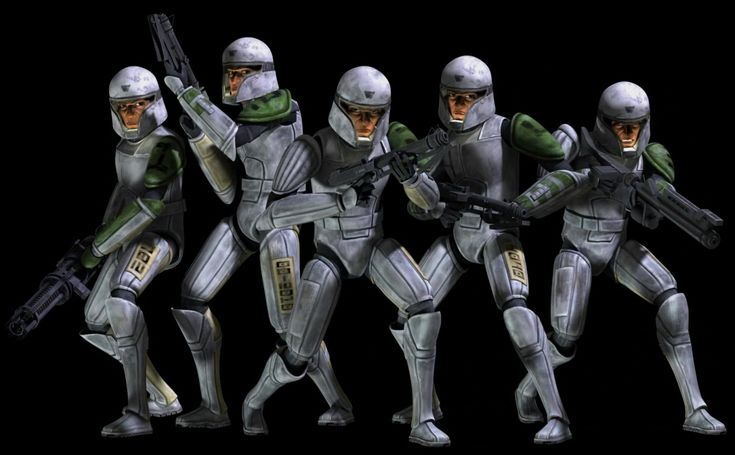 Clone Cadets- Hevy, Droidbait, Echo, Cutup, and Fives