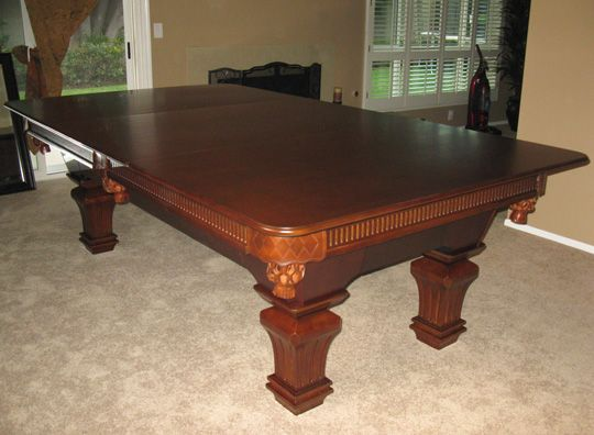 Superb Pool Table With Dining Table Top....oh I Think So!