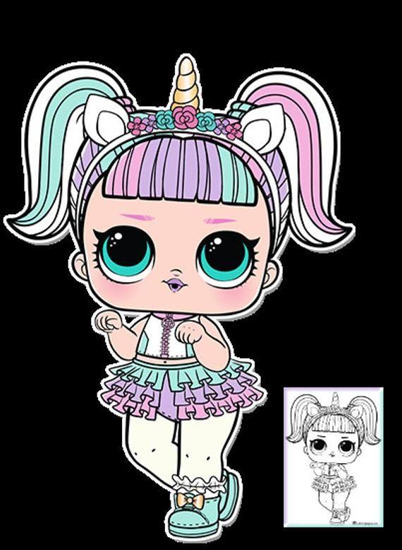 kids girls lol l.o.l. doll surprise series 3 unicorn girl
