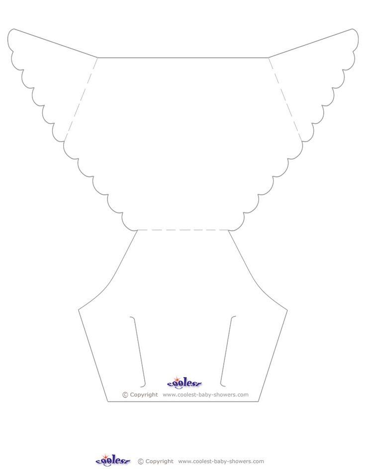 Blank Printable Diaper Invitation Coolest Free Printables