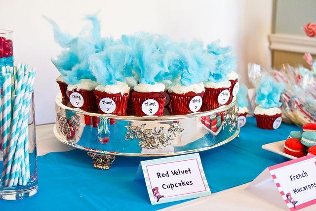 cute party: Cat, Cotton Candy, Hats Parties, Birthday Parties, Theme Parties, 40 Birthday, Parties Ideas, Red Velvet Cupcakes, Dr. Seuss