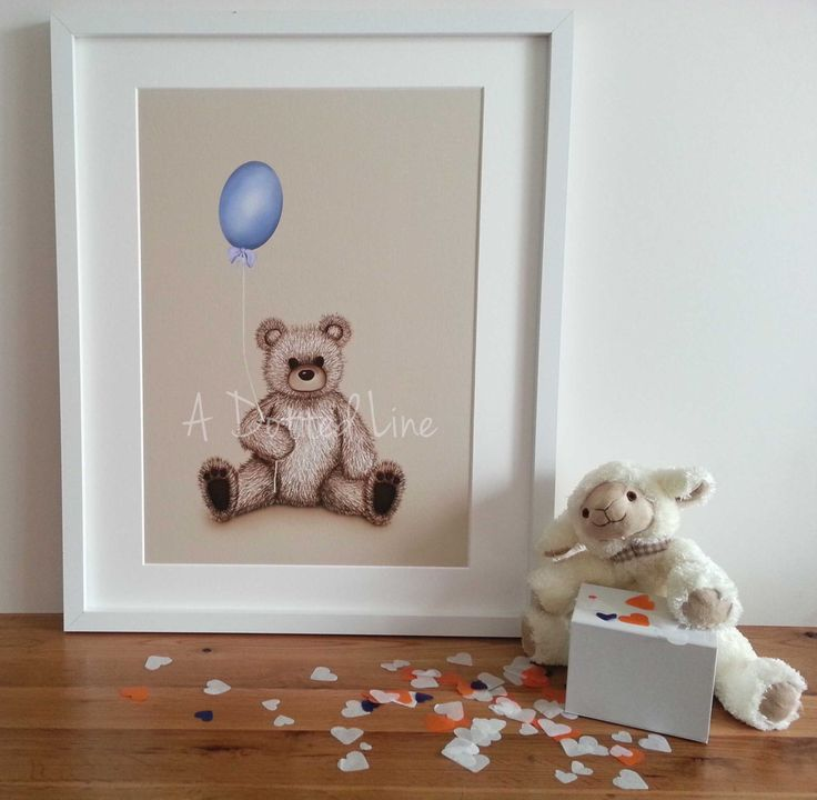 Teddy bear nursery print - Nursery decor for a child's room. Several choices of colours ideal for birthdays, christenings and decorating by Shhadottedline on Etsy https://www.etsy.com/listing/242695766/teddy-bear-nursery-print-nursery-decor