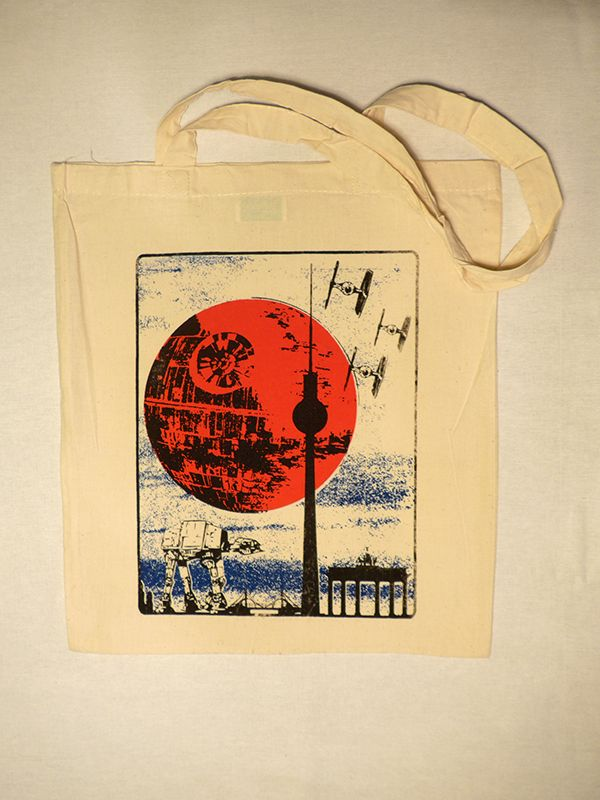 """That's No Moon"" Berlin Cotton Tote via Tribe of E. Click on the image to see more!"