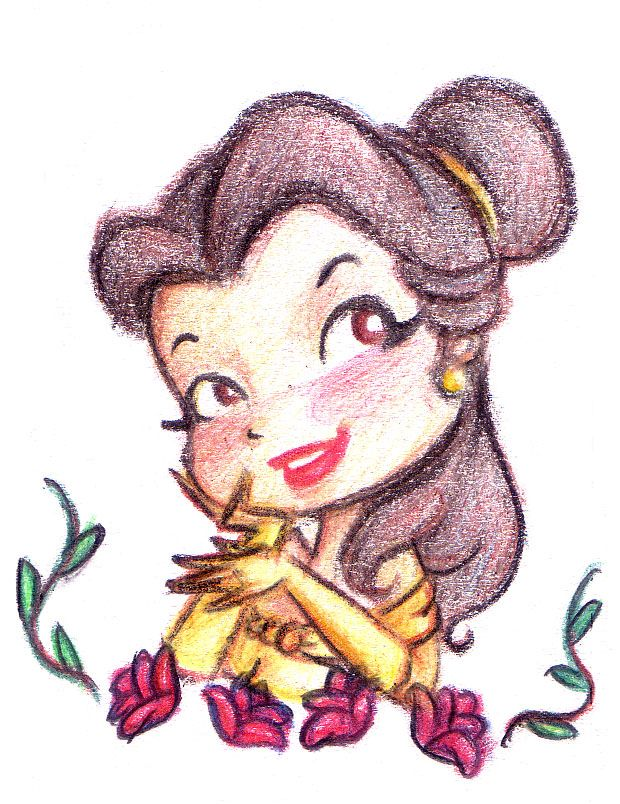 Chibi Belle   Agora a princesa chibi da gula! A esfomeada Branca de Neve chibi ...