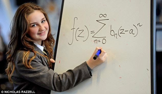 Olivia Manning a 12-year-old girl has been accepted into Mensa International after learning she is more intelligent than bothAlbert Einstein and Stephen Hawking. Olivia Manning resides in Liverpool, succeeded to get a massive score in an IQ testof 162 – well above the 100 average. Her score is not only two points better than famous physicist Einstein and Professor Stephen Hawking, but puts her in the top one per cent of smart people in the entire world.    source
