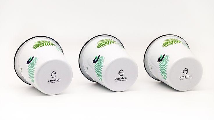 Emalco Enamelware Spring enamel tumbler