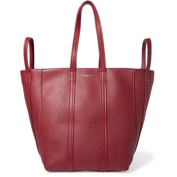 Balenciaga Balenciaga - Laundry Leather Tote - Claret (€1.755) ❤ liked on Polyvore featuring bags, handbags, tote bags, balenciaga tote bag, balenciaga, balenciaga handbags, balenciaga tote and balenciaga purse