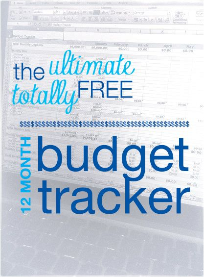 Free Excel Budget Tracker. I add all of my expenses to this 12 month tracker and Excel does all the work. Perfect for the new year.