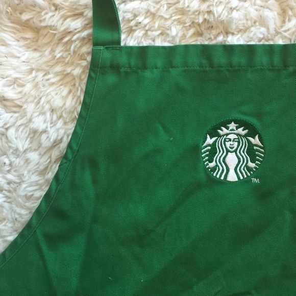 LAST CALL  Authentic Starbucks Apron This is the same as my other aprons listed with an exception to the logo. This apron has the updated logo on it. This is not available for customers to purchase! Used condition from being used to work at Starbucks.  Fun item to have! (2nd photo is the older logo, but apron is the same so I didn't take new photos.) no stains or rips. H&M Other