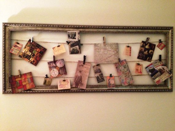 Framed Twine u0026 Clips Vintage Wall Art by FramingA on Etsy, $20.00