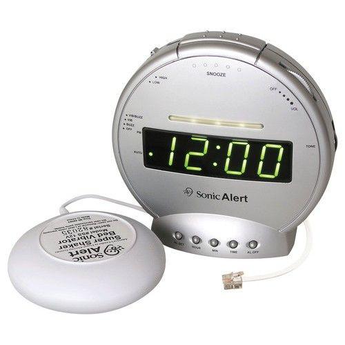 Sonic Alert - Sonic Boom Alarm Clock - Gray - Larger Front