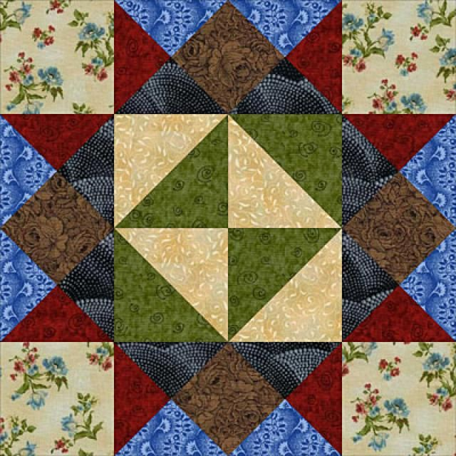 Patchwork Quilt Block Patterns: Girl's Choice: About the Girl's Choice Quilt Block Pattern