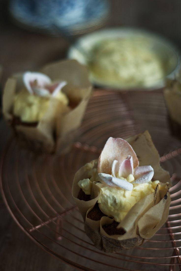 Lemon Cardamom Polenta Cakes