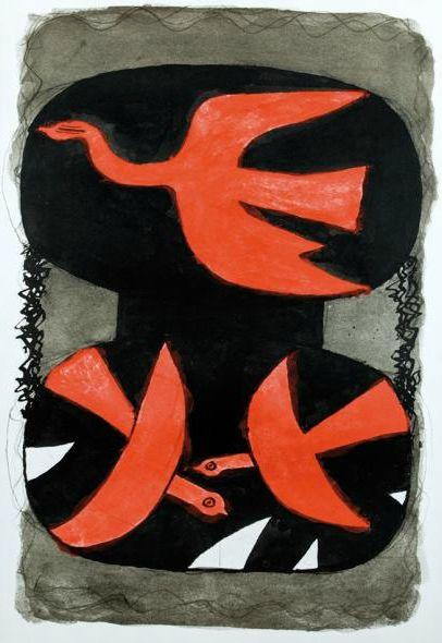By Georges Braque, 1956, Les oiseaux, Ed. des nouvelles images.