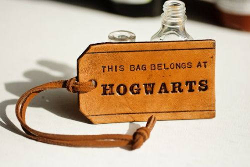//: Bags Tags, Hogwarts Luggage, Leather Tags, Hogwarts Leather, Harry Potter, Suitca, Bags Belong, Leather Bags, Luggage Tags