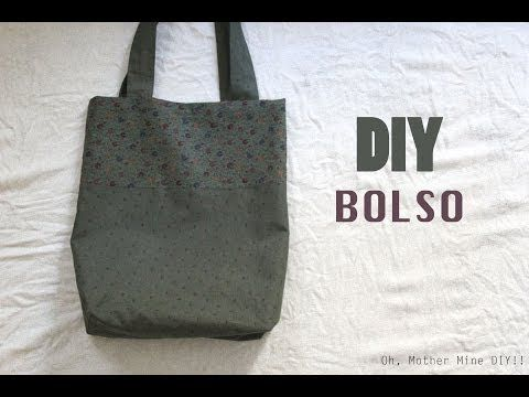 DIY Costura fácil: cómo hacer bolso dos colores - YouTube Tuturial super claro!