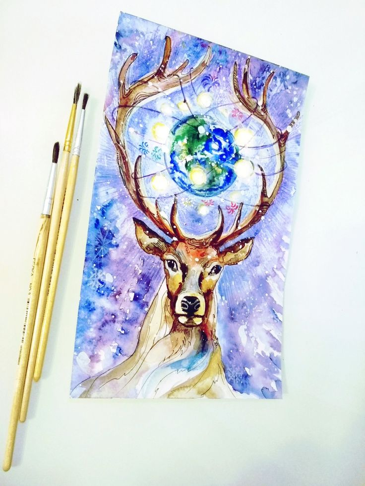 #космический_северный_олень   Иллюстрации