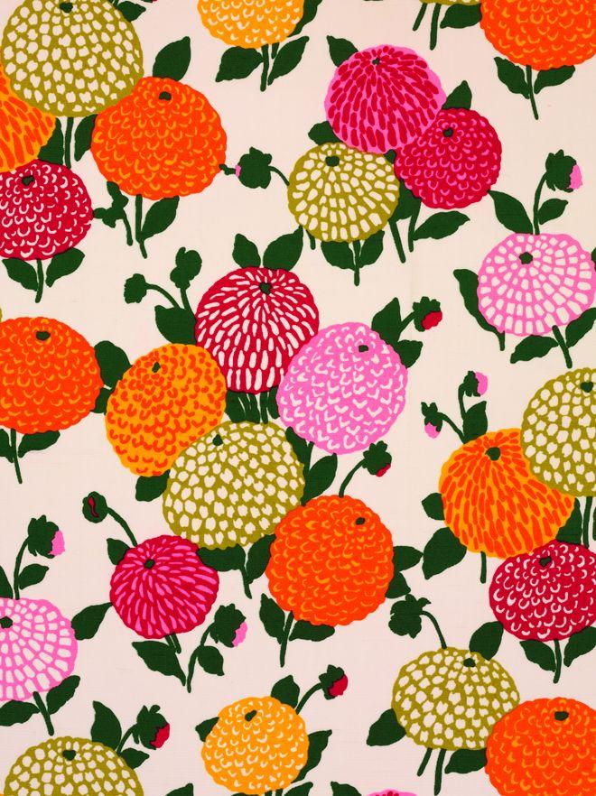 floral textile design by Abraham Ltd, summer 1971  ----  little augury: Silk Pirates: Abraham & Gustav Zumsteg