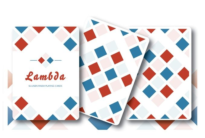 Lambda Red & Blue Playing Cards by Third Moon Publishing — Kickstarter