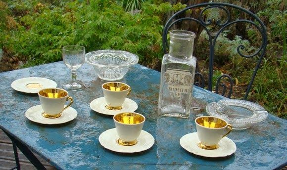 Brocante table de café l'art des baristas by merci gaspard !