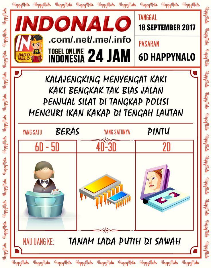 Colok 2D Togel Wap Online Kupon HappyNalo 18 September 2017