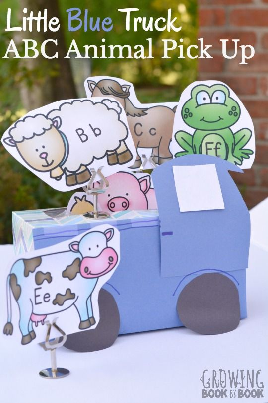 An alphabet activity to do after reading Little Blue Truck. via @growingbbb