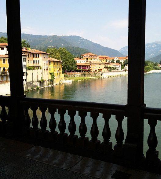 Palladio's wooden bridge in Bassano del Grappa., province of Vicenza Veneto