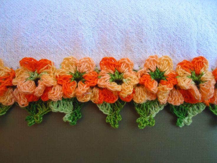 Adoro Artesanato: barrados de crochê