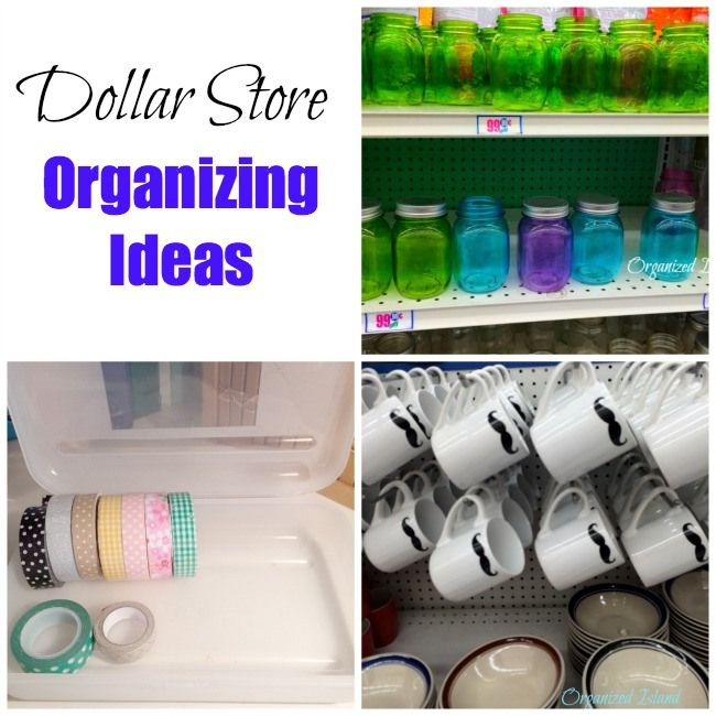 Organizing With Dollar Store Items: Dollar-Store-Organization