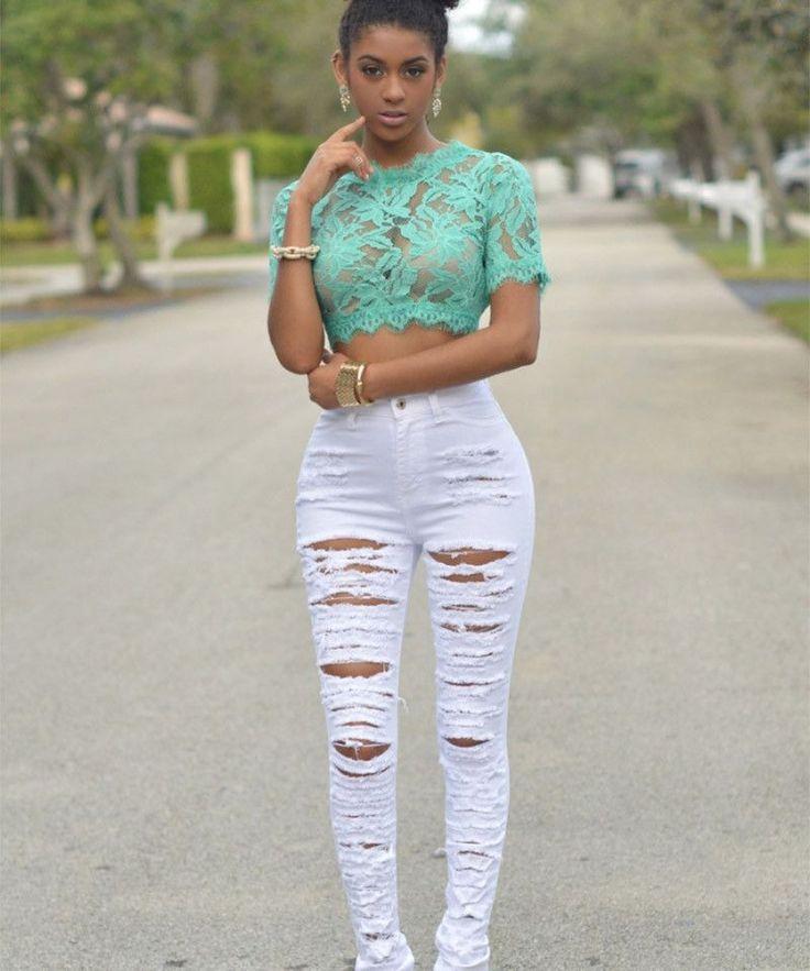 New Designer Denim Women 2016 High Waist Ripped Jeans for Women Skinny Black White Jeans Woman Elastic Slim Jean Femme 25