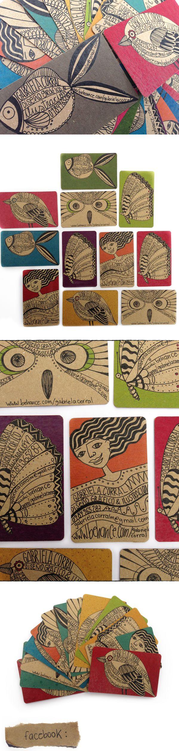 Tarjetas personales 1.2 by Gabriela Corral, via Behance