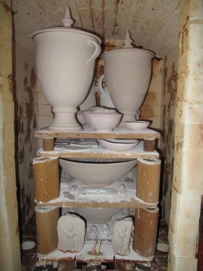 Pots in the kiln April 2010