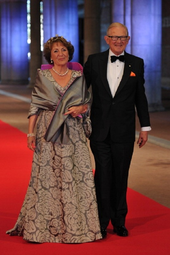Princess Margriet of the Netherlands & her husband 29 April 2013 in Amsterdam