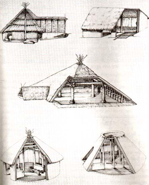 Tipologie delle capanne di Banpo.