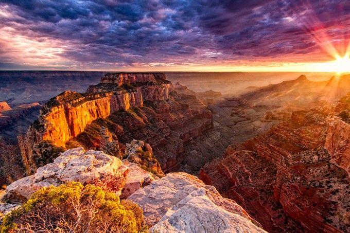 【世界遺産】自然が作り出した半端ないスケール!アメリカ、グランドキャニオンから感動の夕日を眺めよう!