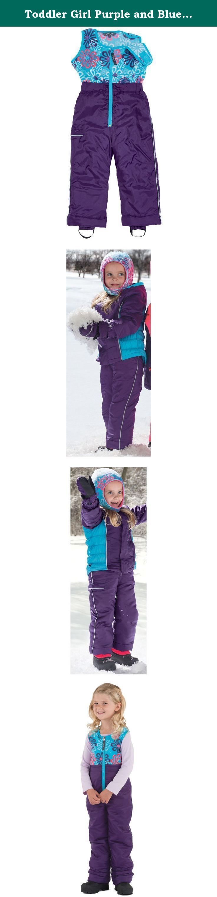 """Toddler Girl Purple and Blue Waterproof Winter Snow Pants by Cozy Cub, Size 3T. One Step Ahead has been making life easier, safer and more fun for parents and kids for more than 25 years. When they cannot find a product that meets their high standards, their in-house design team works closely with parents to develop ingenious, high quality products that are at least """"one step ahead"""" of the competition. Cozy Cub Technical Outerwear is a line of coordinating cold-weather winter outerwear…"""