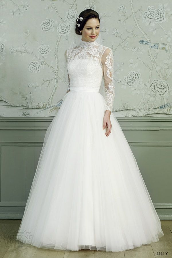 11 best turtle neck wedding dress images on pinterest for Long sleeve turtleneck wedding dress