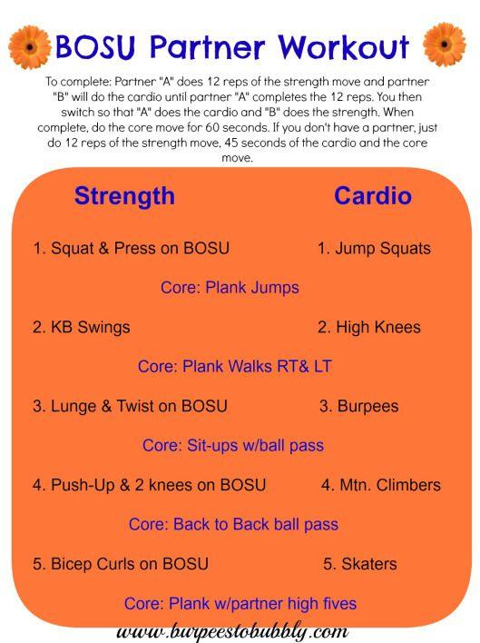 BOSU partner workout