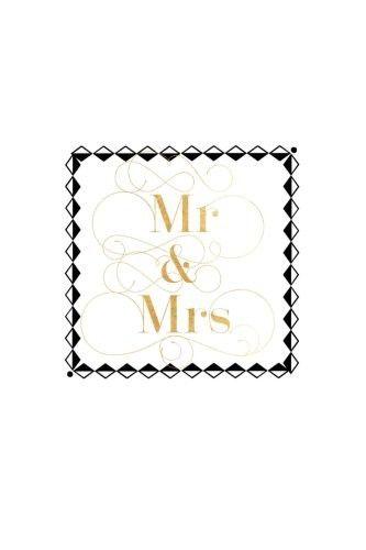 Mr Mrs Black Gold Box Wedding Planner Notebook
