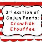 This is my third edition of fonts for teachers. I am from the south, so I am going to name the fonts with cajun names. This third font is called: C...