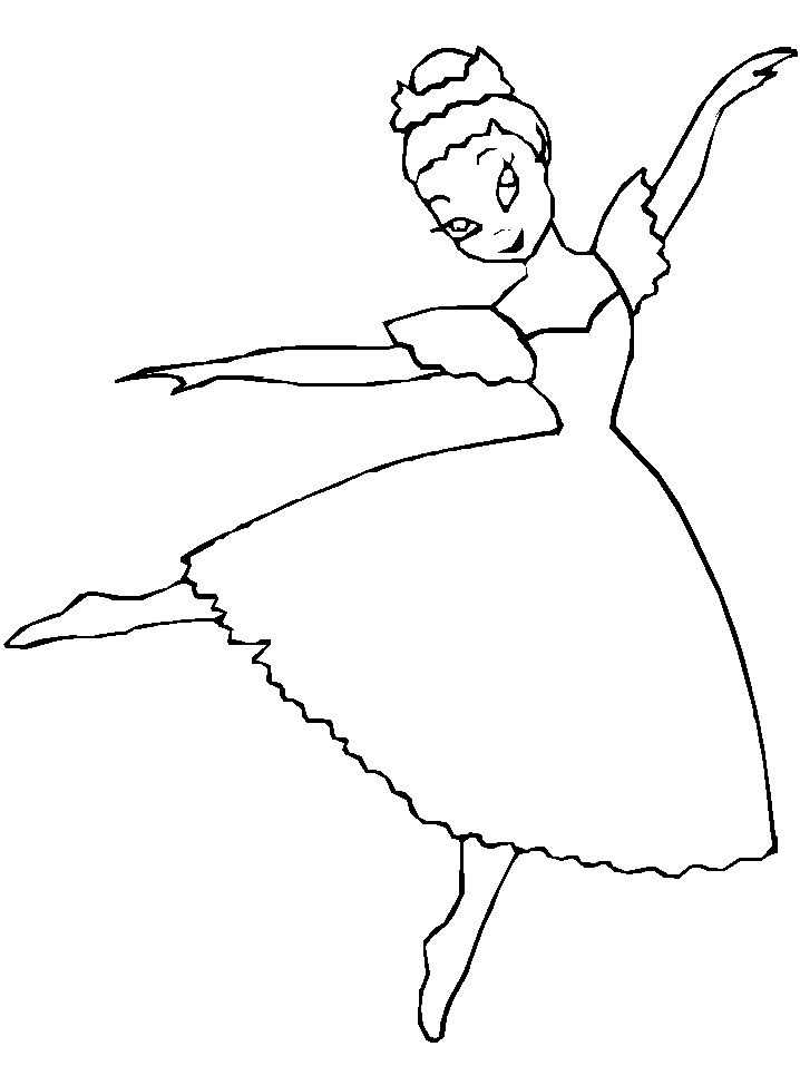 Free Ballerina Coloring Pages 718x957 Picture Animal