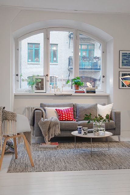 In this house the small touches of color makes a difference | Etxekodeco