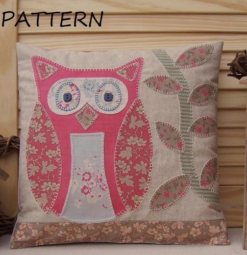 PATTERN - Prim Linz Owl Cushion Pattern   eBay