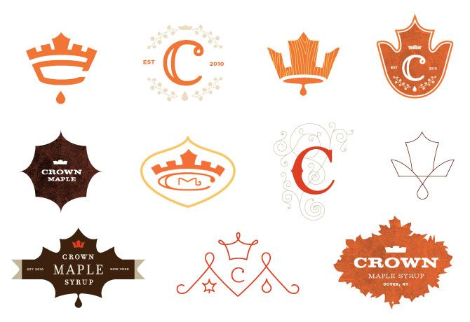 Crown Maple Syrup - logo concepts
